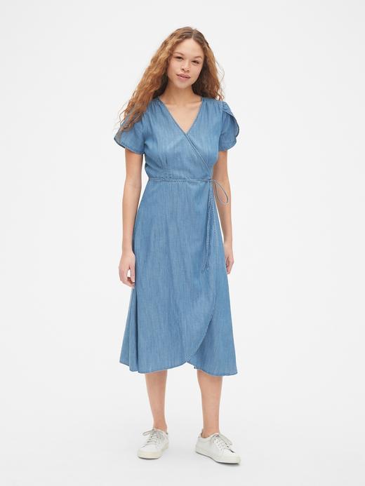 Kısa Kollu Tencel™ Elbise
