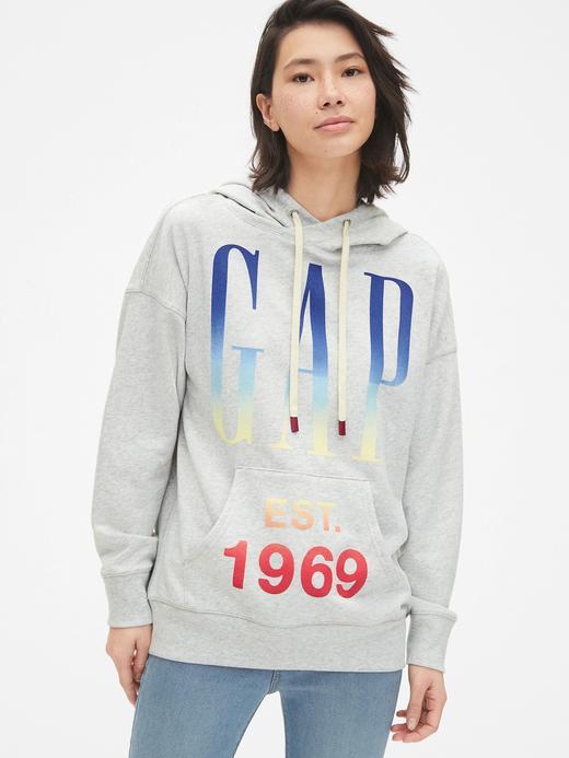 Vintage Gap Logo Kapüşonlu Sweatshirt