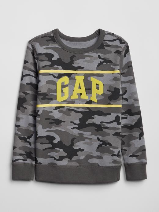Gap Logo Kamuflaj Sweatshirt