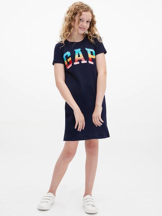 Gap Logo Değişen Pullu T-Shirt Elbise