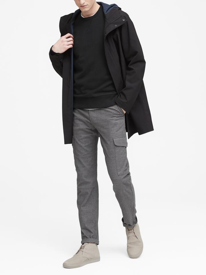 Erkek yeşil Uzun Kollu Sıfır Yaka Sweatshirt