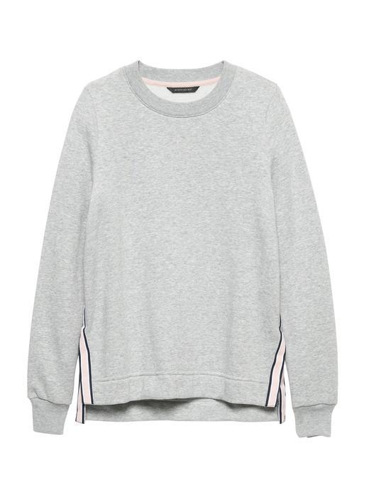 Yanları Çizgi Desenli Sweatshirt