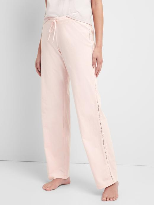 Kadın açık pembe Bol Paça Pijama Altı
