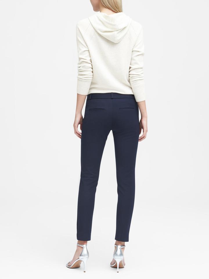 Kadın mavi Sloan-Fit Slim Bilekte Biten Pantolon