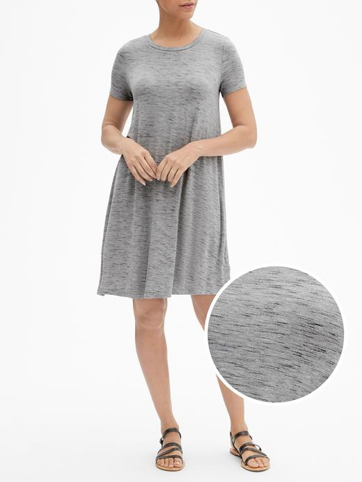 Kısa Kollu Rayon Elbise