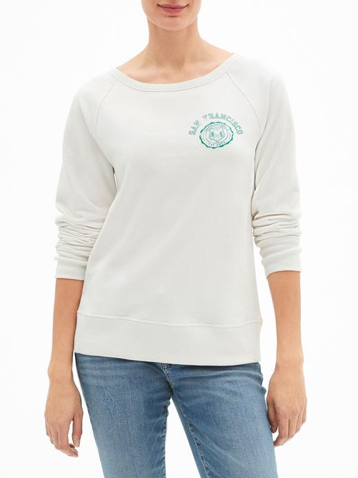 Vintage Yumuşak Dokulu Baskılı Havlu Kumaşı Sweatshirt