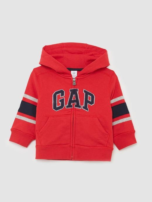 Bebek kırmızı Gap Logo Kapüşonlu Sweatshirt