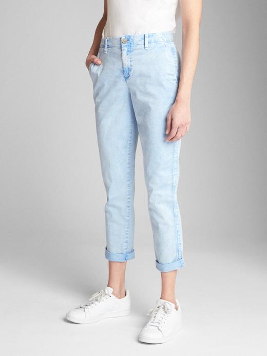 Kadın mavi Girlfriend Chino Pantolon