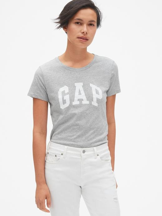 Kadın Gri Kadın Gap Logo Kısa Kollu T-Shirt