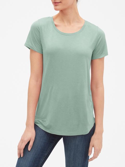 Kadın sage Kadın Kısa Kollu Jarse T-Shirt