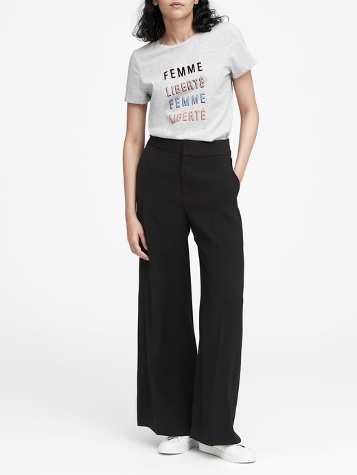 Femme Liberté Baskılı T-Shirt