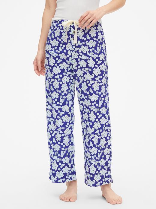 Kadın lacivert Dreamer Desenli Poplin Pijama Altı