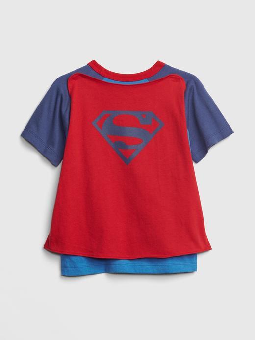 Bebek gri babyGap | DC™ Pelerinli Kısa Kollu T-Shirt