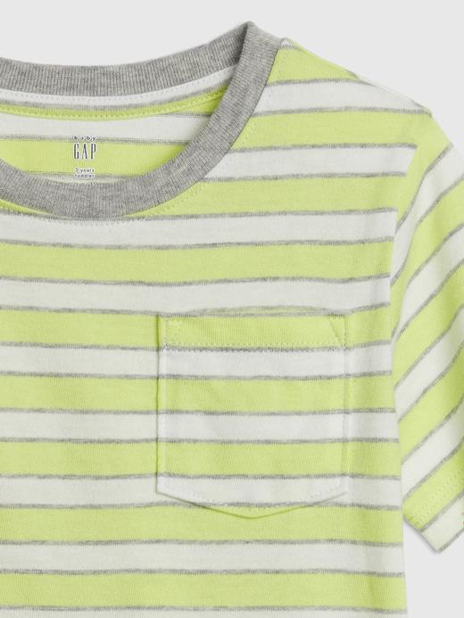 Çizgili Kısa Kollu T-Shirt