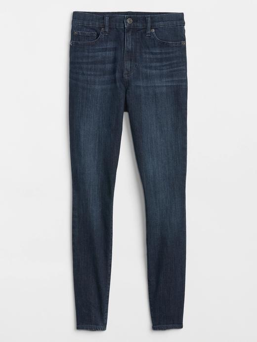 Kadın koyu indigo Yüksek Belli Super Skinny Jean Pantolon