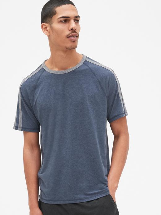 Erkek lacivert GapFit Breathe T-Shirt