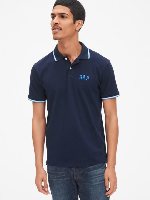 Erkek Lacivert Gap Logo Polo Yaka T-Shirt