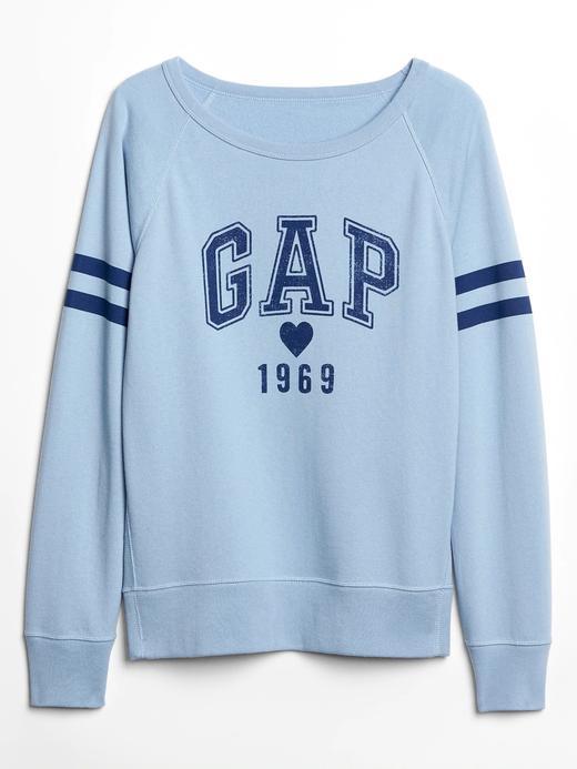 Gap Logo Kalp Desenli Sweatshirt