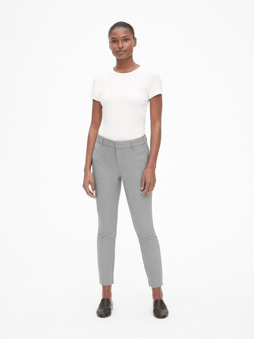 Kadın bej Skinny Bilek Hizasında Pantolon