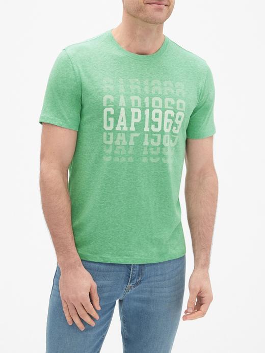 Erkek yeşil Gap Logo Jarse T-Shirt