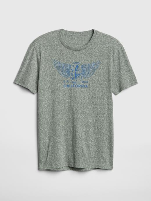 Erkek yeşil Baskılı Kısa Kollu T-Shirt