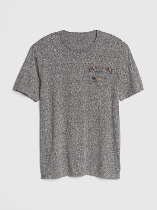 Erkek kırçıllı gri Baskılı Kısa Kollu T-Shirt
