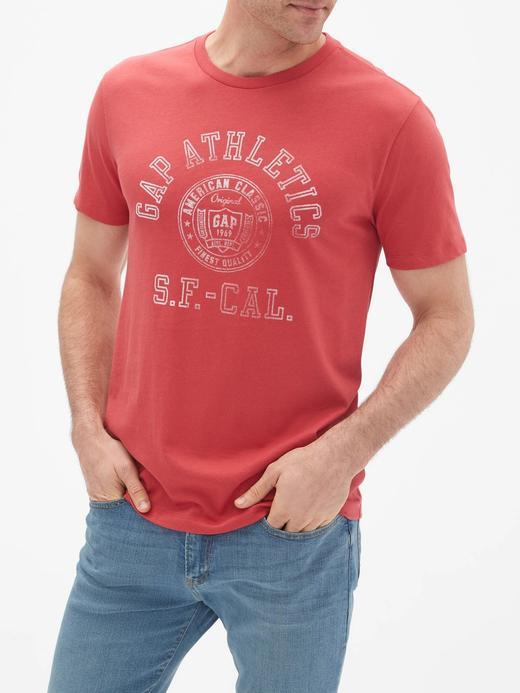 Erkek açık kırmızı Gap Logo Vintage T-Shirt