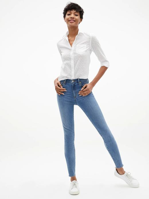 Yüksek Belli Legging Jean Pantolon