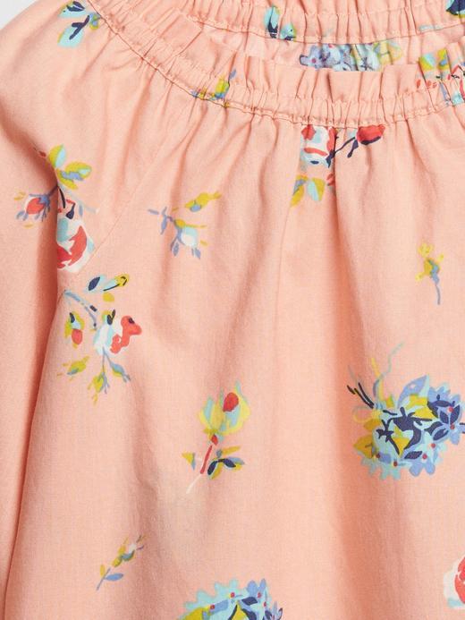 Bebek açık turuncu Çiçek Desenli Bluz
