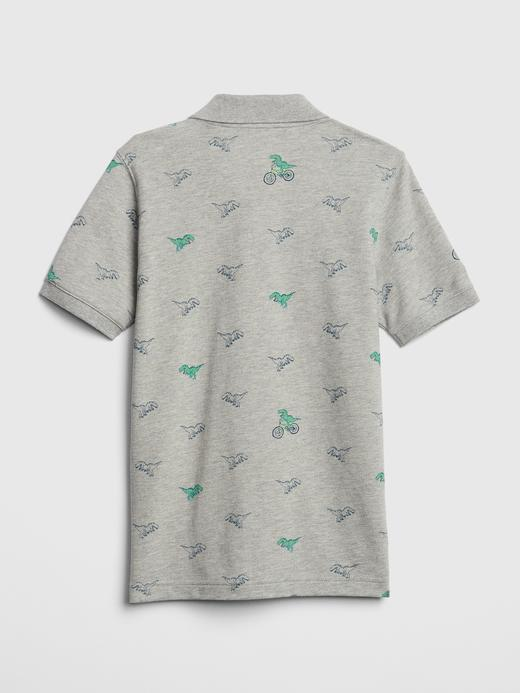 Desenli Kısa Kollu Polo Yaka T-Shirt
