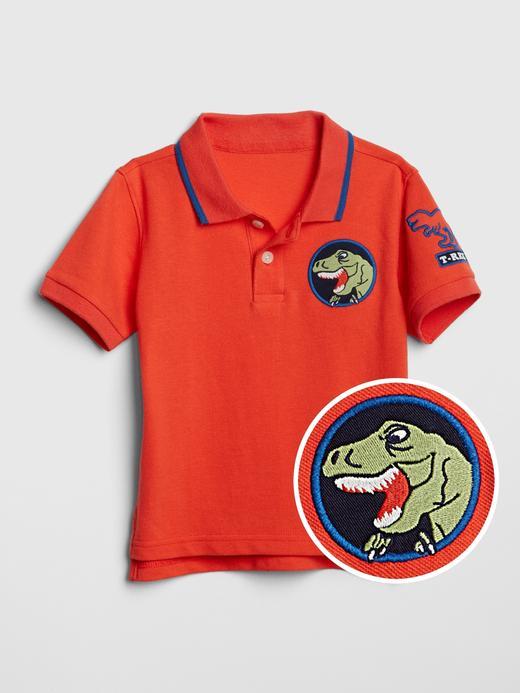 İşlemeli Polo Yaka T-Shirt