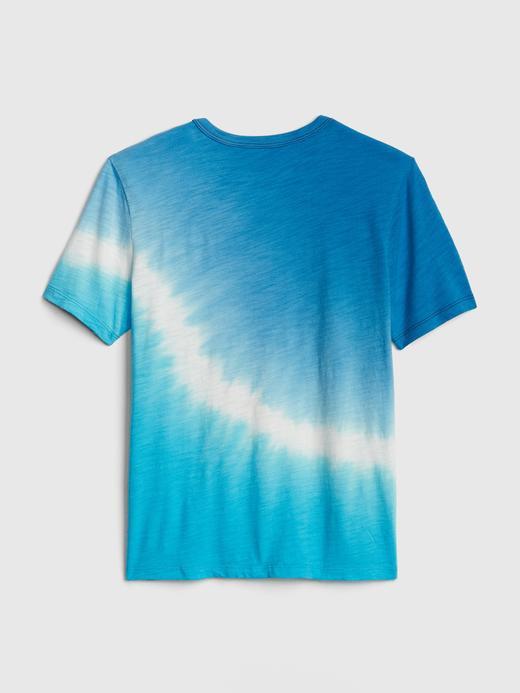 Erkek Çocuk kırçıllı mavi Baskılı Kısa Kollu T-Shirt