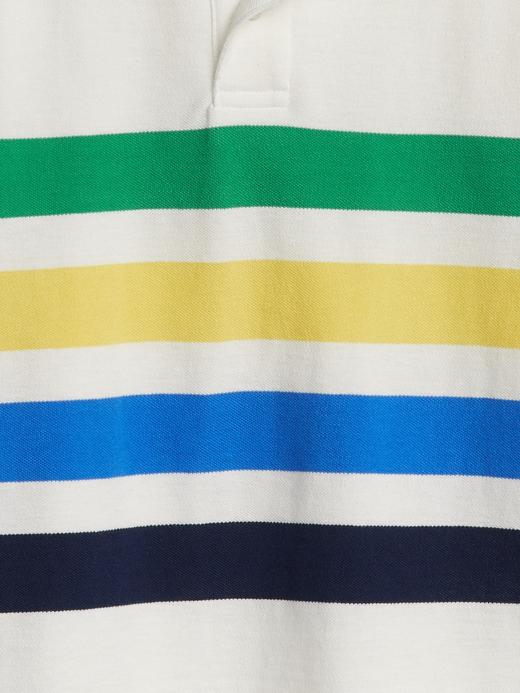 Çizgili Polo Yaka T-Shirt