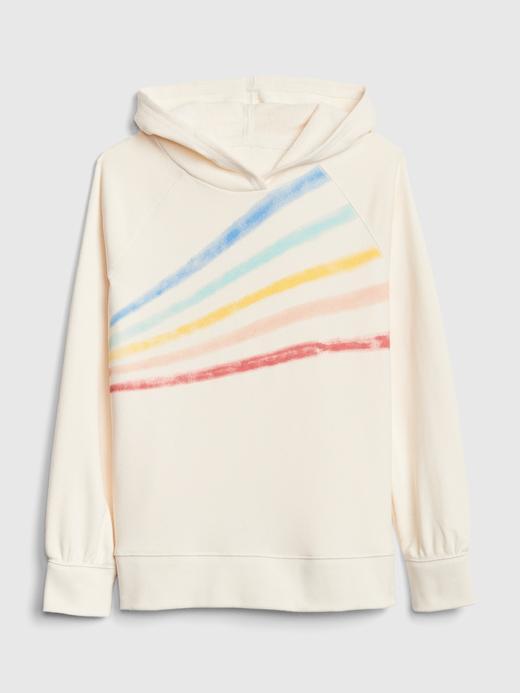 Gökkuşağı Renkli Kapüşonlu Sweatshirt