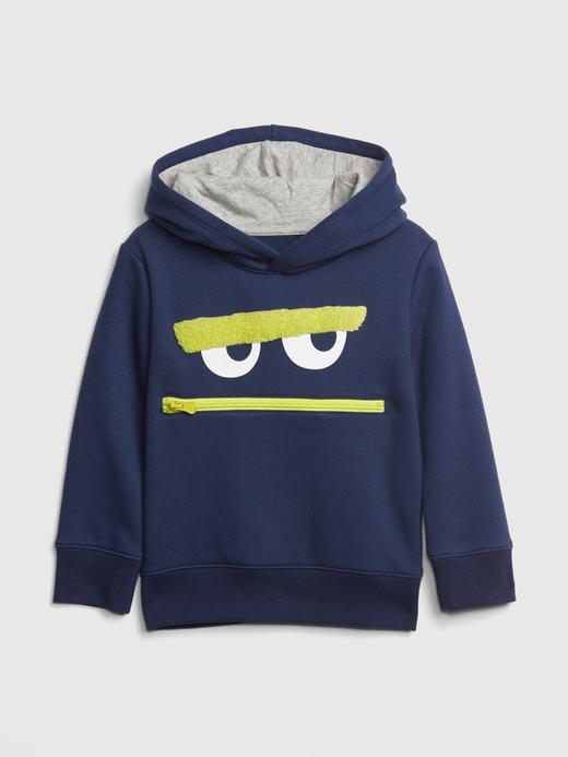 3D Baskılı Kapüşonlu Sweatshirt
