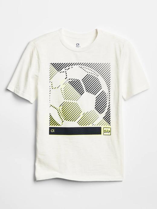 GapFit Baskılı Sıfır Yaka T-Shirt