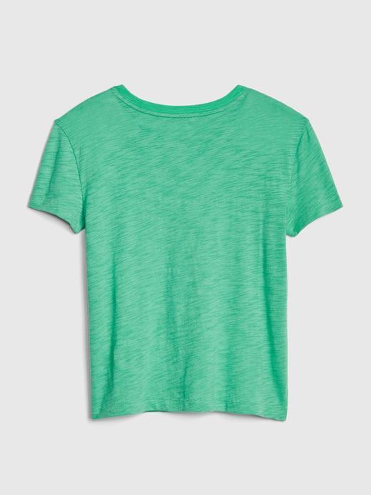 İşlemeli Kısa Kollu T-Shirt