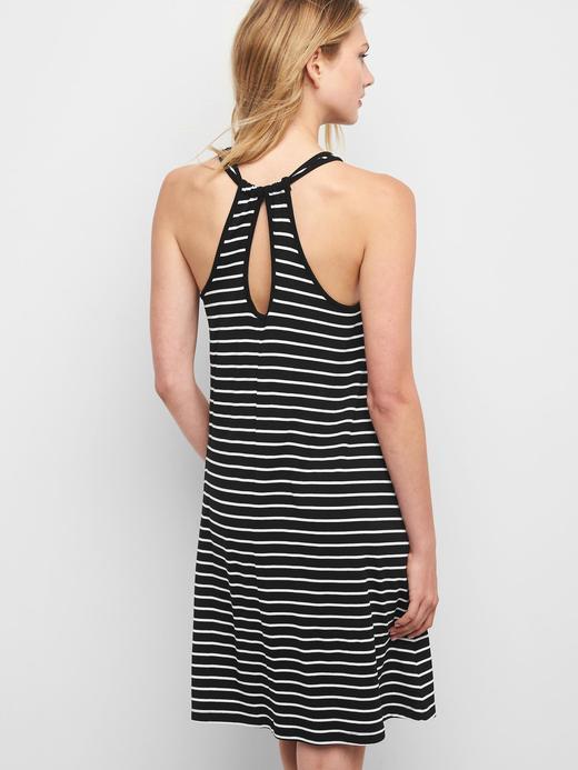 Kadın siyah-beyaz çizgili Çizgili Elbise