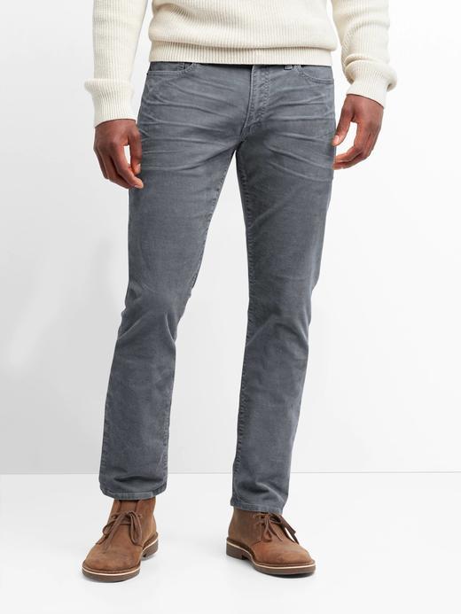 Erkek gri Slim Fit Streç Pantolon