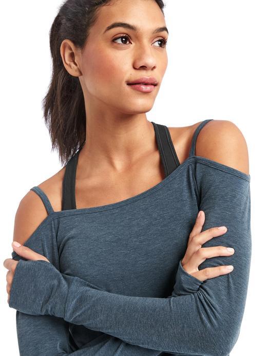 Kadın turkuaz GapFit Uzun kollu T-Shirt