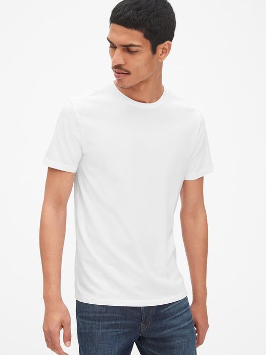 Erkek Beyaz Klasik T-Shirt
