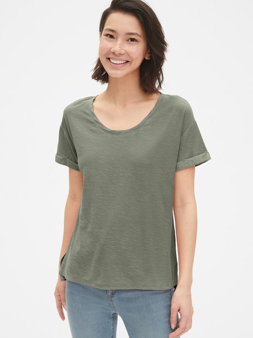 Yumuşak Dokulu Sıfır Yaka T-Shirt