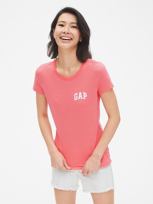 Gap Logo Çizgili T-Shirt