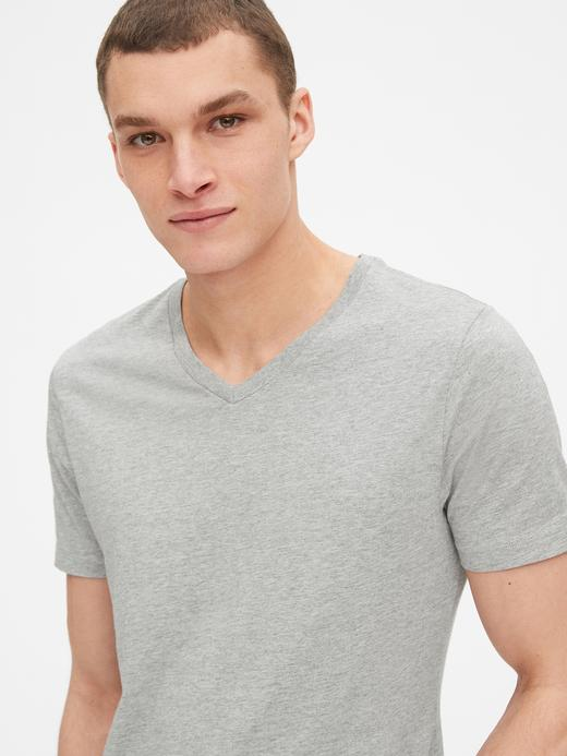 Erkek Lacivert V Yaka T-Shirt