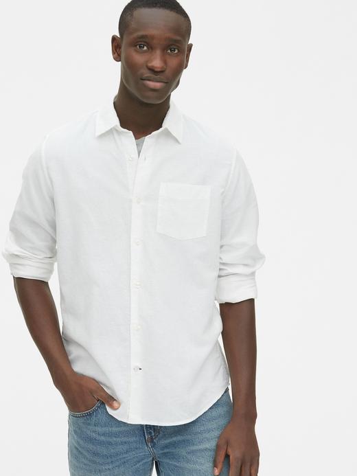 Erkek Keten Standart Fit Gömlek