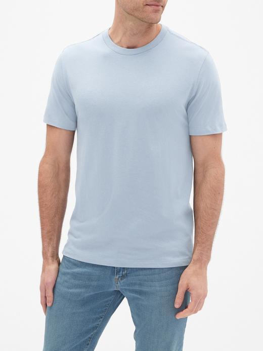 Erkek mavi Everyday Sıfır Yaka T-Shirt