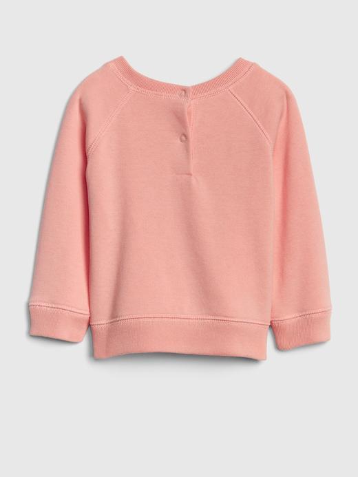 Bebek turuncu Baskılı Sweatshirt