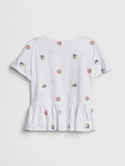 işlemeli Peplum T-Shirt