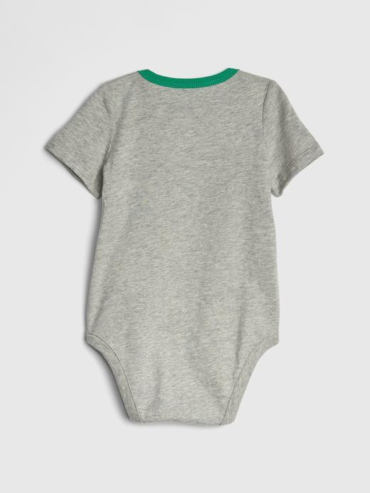 Erkek Bebek Baskılı Kısa Kollu Body