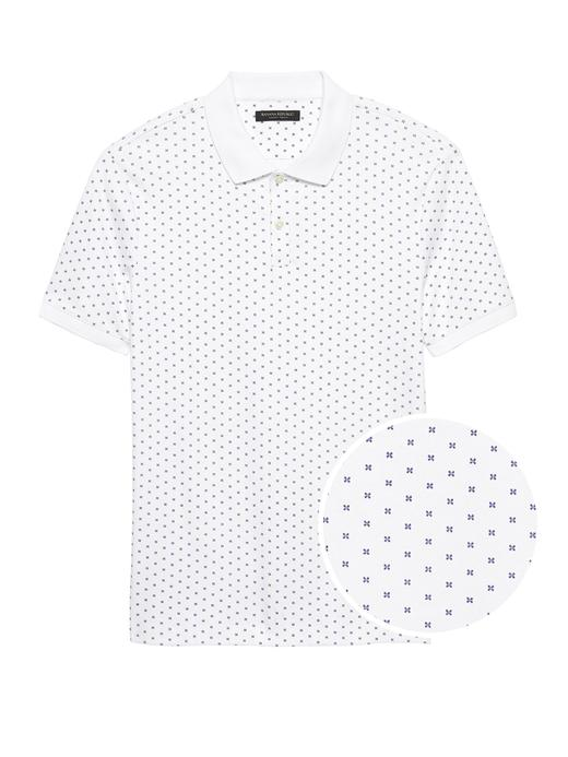 Luxury-Touch Desenli Polo Yaka T-Shirt